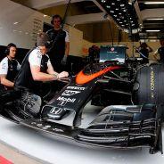Fernando Alonso en el Gran Premio de Austria, con el nuevo morro de McLaren - LaF1