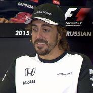 Alonso fue el protagonista de la rueda de prensa de Sochi - LaF1