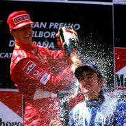 Michael Schumacher y Fernando Alonso en una imagen de archivo - LaF1