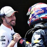 Alonso y Verstappen al término del GP de España - LaF1