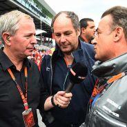 Martin Brundle, Gerhard Berger y Jean Alesi - LaF1