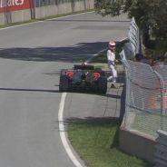 Jenson Button tras su avería - LaF1