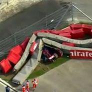 Carlos Sainz sufre un fuerte accidente - LaF1