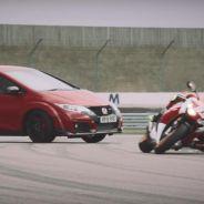 Honda Civic Type R vs CBR1000RR SP: duelo extremo en circuito
