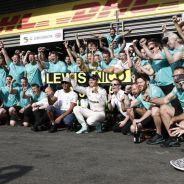 Celebración del equipo Mercedes en Spa-Francorchamps - LaF1