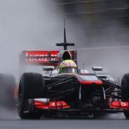 Sergio Pérez en el Circuit de Catalunya