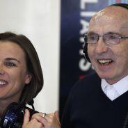 Claire y Frank Williams en el box - LaF1.es