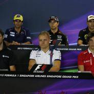 Grosjean, Bottas, Merhi, Nasr, Pérez y Maldonado, protagonistas del jueves en Singapur - LaF1