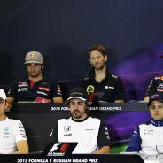 Rosberg, Alonso, Massa, Sainz, Grosjean y Kvyat - LaF1