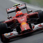 Kimi Räikkönen y su Ferrari en el Gran Premio de China - LaF1