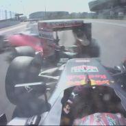 Éste ha sido el momento del segundo toque de Kvyat a Vettel - LaF1
