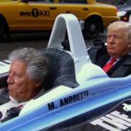 Donald Trump en un IndyCar biplaza con Mario Andretti - SoyMotor.com