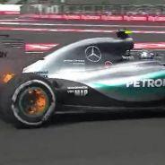 Los frenos traseros de Nico Rosberg, en llamas - LaF1