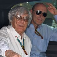 Bernie Ecclestone en Montmeló, acompañado por Donald Mackenzie, de CVC - LaF1