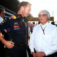 Christian Horner junto a Bernie Ecclestone - LaF1