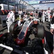 Esteban Gutiérrez en la parrilla de salida de Australia - LaF1