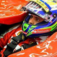 Felipe Massa en el box de Spa-Francorchamps