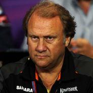 Bob Fernley, jefe de equipo adjunto de Force India, en la rueda de prensa de ayer de la FIA - LaF1