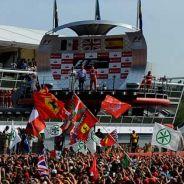 Podio del GP de Italia de 2012