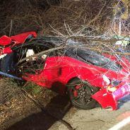 En este deplorable estado quedó el Ferrari 458 Sepciale tras el fuerte accidente - SoyMotor