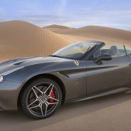 Ferrari California T Deserto Rosso posa ante el Desierto de Liwa - SoyMotor