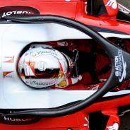 Vista cenital del halo en el SF16-H de Sebastian Vettel - LaF1