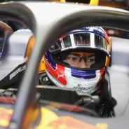 Pierre Gasly con el halo en los tests de Silverstone - LaF1