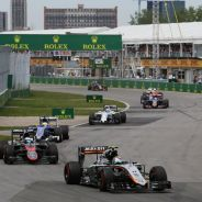 Fila de coches en el GP de Canadá - LaF1.es