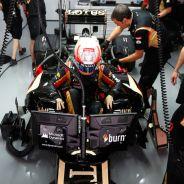 Romain Grosjean en el box de la India - LaF1