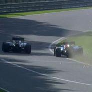 Momento en el que Gutiérrez bloquea a Wehrlein y le hace salirse a la hierba - LaF1