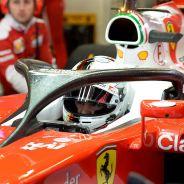 Sebastian Vettel con el halo en pretemporada - LaF1