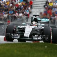 Lewis Hamilton con el Mercedes en Canadá - LaF1