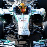 Lewis Hamilton al volante del W04 en Abu Dabi - LaF1