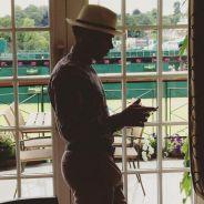 Ésta es la imagen que Hamilton ha compartido esta tarde con el pie de foto 'Wimbledon' - LaF1