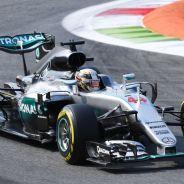 Hamilton durante el GP de Italia esta temporada - SoyMotor
