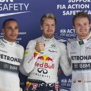 Lewis Hamilton, Sebastian Vettel y Nico Rosberg en Buddh - LaF1