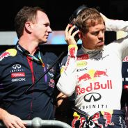 Christian Horner y Sebastian Vettel en su etapa juntos en Red Bull - LaF1