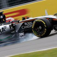 Nico Hülkenberg pasándose de frenada en Canadá - LaF1