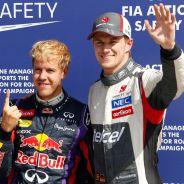 Nico Hülkenberg junto a Sebastian Vettel y Mark Webber - LaF1