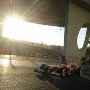 Ferrari durante los test de pretemporada de 2013 - LaF1