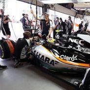 Box de Force India en Bakú - LaF1