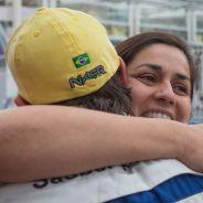 Monisha Kaltenborn felicitando a Felipe Nasr tras acabar en los puntos en Mónaco - LaF1