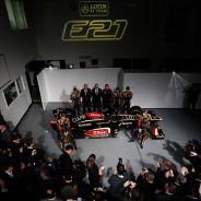 Presentación del Lotus E21, a comienzos de 2013 - LaF1