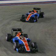 Pascal Wehrlein y Esteban Ocon en Singapur - LaF1