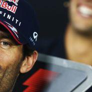 Mark Webber durante la conferencia de prensa de la India - LaF1