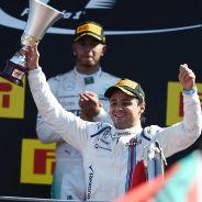 Felipe Massa en el podio de Monza - LaF1