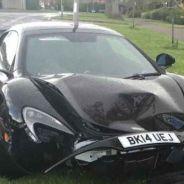 McLaren 650S estrellado