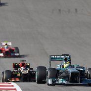 Nico Rosberg en Austin, por delante de Lotus y Ferrari - LaF1