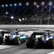 Lewis Hamilton y Nico Rosberg en Singapur - LaF1