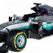 Fotografía de estudio del nuevo Mercedes W07 - LaF1